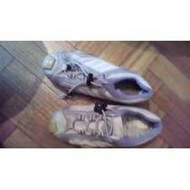 Zapatillas 36 Blancas Con Lila C/ Cordon Gaelle - Centro