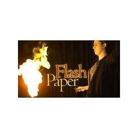 Papel Flash Magia Flash Paper Paq. 4 Pliegos Con Envío Dhl