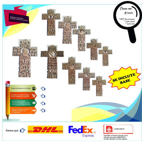 Cruz En Diferentes Oraciones En 25cm Mdf 3mm