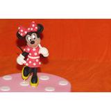 Minnie Mickey Mouse Porcelana Fria Cumpleaños Torta Adorno