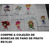 Matriz De Bordado Bonecas Para Pano De Prato Bc64a