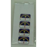 Bandeira Resina Pernambuco Tarjeta Adesivo Placa 2,3 X 1,6cm