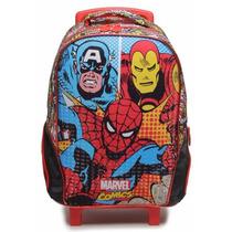 Mochila Escolar Rodas Marvel Comics 6310 Xeryus