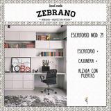 Fabricantes | Escritorio Cajonera Alzada Mod21 | Zebrano M+a
