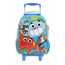 Mochilete Escolar Infantil Gumball Dmw 49014