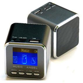 Mini Caixa Som Portatil Com Entrade Usb E Sd Com Radio Fm