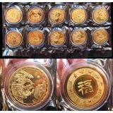 10 Monedas Zodiaco Lunar Chino Dragon 2006 Coleccion Hobby