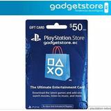 Tarjetas Playstation Store Gift Cards De 50 Dólares.