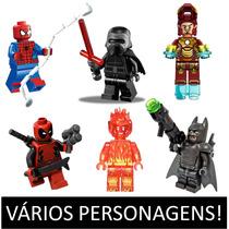 Miniatura Lego Compatível Homem Aranha Deadpool Ferro Av1