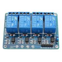 Módulo Relé 4 Canais 5v Arduino Pic Avr Melor Frete