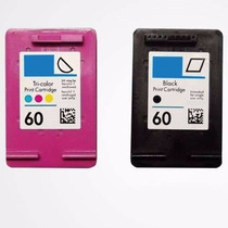 Kit Cartuchos Hp 60 Xl Preto E Color Compativel F4280 F4480