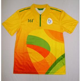 8a66fdc923 Camisa Uniforme Voluntário Olimpíadas Rio 2016 Amarela M