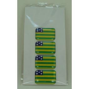 Bandeira Resina Goias Tarjeta Adesivo Placa 2,3 X 1,6cm