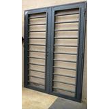 Puerta Reja Tubos Horizontales 150x200 C/marco C/cerradura
