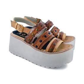 Envio Gratis Sandalia Cuero Zapato Plataforma Verano 2018