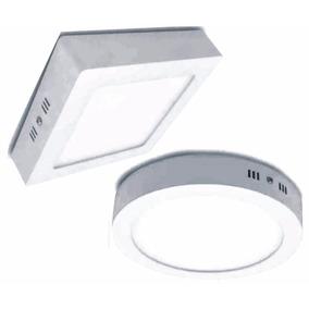 Pack 5 Plafon Aplicar Led 18 W Ambos Modelos Y Tonos De Luz