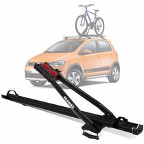 Suporte Transbike Rack Teto Eqmax Aluminium Preto P/ 1 Bike