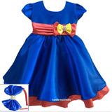 Vestido Festa Infantil Luna Tam 1 Ao 4 Com Tiara