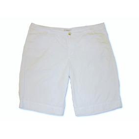 Short Bermuda Marca Merona Color Blanco Extra Grande 18 / 40