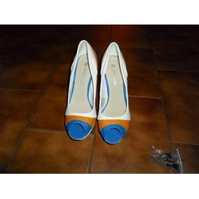 Zapatos De Mujer Nuevos Talle 38 Con 12 Cm De Plataforma.