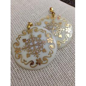 Medalla De Moneda De Madre Perla