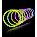 Glow Sticks - Pulseras Neon - Fiestas Neon Cumpleaños 50 Uni
