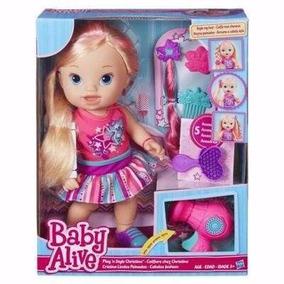 Boneca Baby Alive Cabelos Fashion Loira B1448 Hasbro