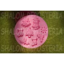 *molde Silicon 8 Figuras Navidad Copo Pasta Cupcake Fondant*