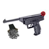 Pistola De Aire Comprimido 5.5 + 300 Balines Polimero Acero