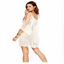 Camisa Mujer Blusa Encaje Sexy Bluson Playa Verano Importada