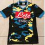 Camiseta Napoli De Italia Estilo Militar Hermosa Futbol Calc