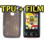 Funda Silicona Tpu + Film Protector Lg T300 - Nnv