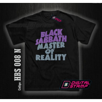 Remeras Black Sabbath 8 Master Heavy Metal Digital Stamp Dtg