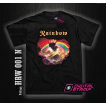 Remeras Rainbow Rising 1 Ritchie Heavy Metal Digital Stamp