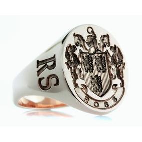 Anel Brasão De Família Esculpido Artisticamente Prata 950