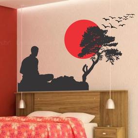 Adesivo Decorativo De Parede Oriental Bonsai Meditacao