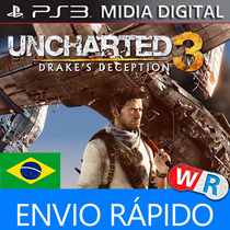 Uncharted 3 Psn Ps3 Play3 Dublado Portugues Brasil Goty