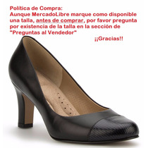 Zapatillas Andrea Confort Elegantes Ejecutiva Negras 7278