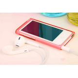 Case Capa Apple Ipod Nano 7 Acrílico Transparente Vermelha