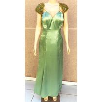 Vestido De Festa Longo Em Cetim Verde-157
