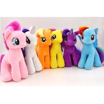 Set 5 Peluches 18 Cms My Little Pony Envio Gratis La Magia D