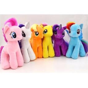 Set 6 Peluches 18 Cms My Little Pony Envio Gratis La Magia D