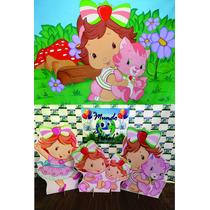 Kit Displays Moranguinho Baby 8 Peças + Painel 2,00x1,40