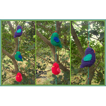 Pajaro, Pajaritos Tejidos Crochet. Artesanales