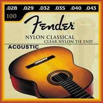 Encordoamento Fender P/ Violão Guitarra E Nylon C/ 10 Unds
