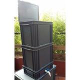 Kit G32 Compostera Organicos 3cajones+tapa+canilla+lombrices