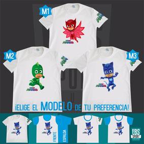 Camiseta Camisa Niño Pj Masks Heroes Pijama Floogals Pac Man