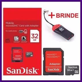 Cartão De Memória Micro Sd Sandisk 32gb +leitor Original