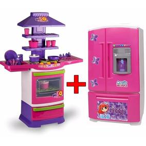 Cozinha Infantil Fogaozinho Master + Geladeira Mágica Invers