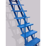 Escalera Recta Hierro Chapa Metal 3m X 60cm Estandar Mb